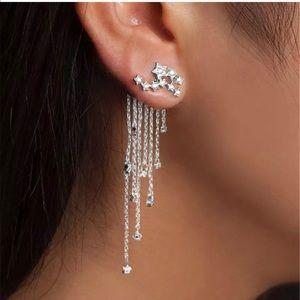 Jewelry - Earnings drop  tassel stars crystal